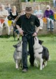 Richad Curtis and his dog display team
